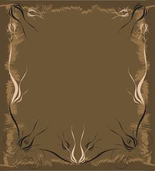Free Brown Ornate Illustration Stock Photography - 6541062