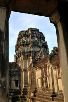 Free Ruins Of Angkor Wat In Cambodia Royalty Free Stock Photo - 6541435