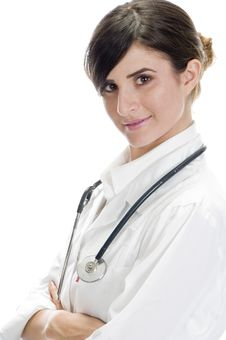 Free Posing Lady Doctor Stock Image - 6541721