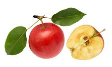 Free Apple Red And Half Royalty Free Stock Photo - 6542705