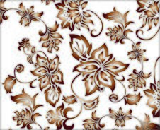 Ornate Golden Flower Pattern Royalty Free Stock Photo