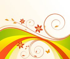 Free Floral Background Vector Royalty Free Stock Photo - 6542935