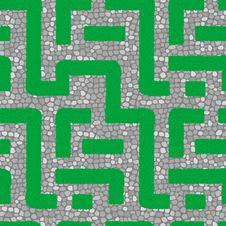 Seamless Labyrinth Pattern Royalty Free Stock Image