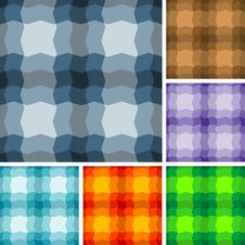 Seamless Plaid Patterns Stock Images