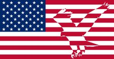 Free American Flag. Royalty Free Stock Photos - 6543628