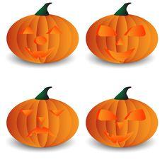 Halloween Pumpkin Poster Stock Images