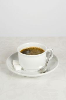 Mug With Coffee Spoon Royalty Free Stock Image