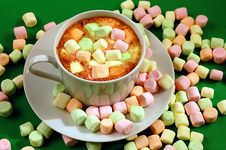 Free Hot Chocolate With Marshmallows Stock Photography - 6544002