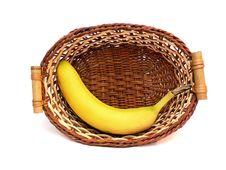 Banana In Basket Royalty Free Stock Images