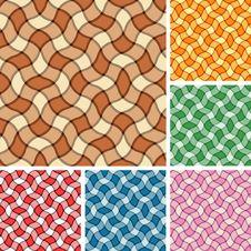 Seamless Plaid Patterns Royalty Free Stock Photo