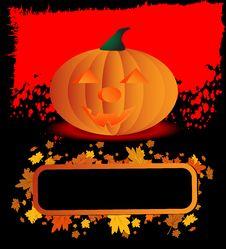 Halloween Pumpkin Poster Stock Photos