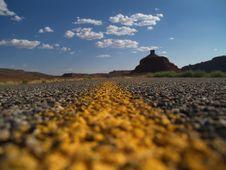 Free Two Lane Road In Utah Royalty Free Stock Photography - 6545647