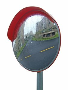 Free Traffic Mirror Royalty Free Stock Image - 6545696