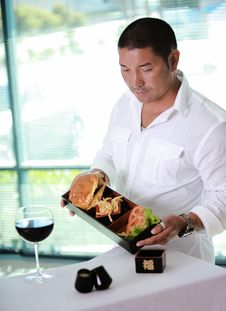 Free Waiter At Table Royalty Free Stock Image - 6545926