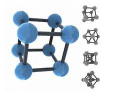 Free Isolated Molecule Royalty Free Stock Images - 6546489