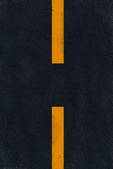 Free Yellow Marking On Black Asphalt Royalty Free Stock Photography - 6546517