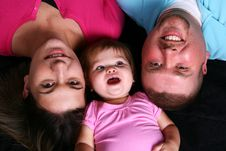 Free Happy Family Looking Up Royalty Free Stock Images - 6546619