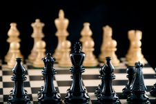Free Confrontation. Chess. Focus On Black Ranks Royalty Free Stock Images - 6546789
