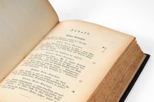 Free Old Open Book Stock Photography - 6547142
