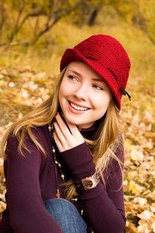 Pretty Girl In The Park Stock Image