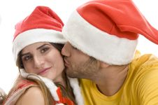 Free Young Male Kissing Female Stock Image - 6548401