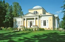 Wooden Building In Classical Style Stock Image
