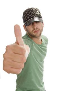 Free Caucasian Man Showing Thumb Royalty Free Stock Image - 6548666