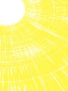 Sunbeams. Royalty Free Stock Photography