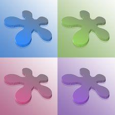 Free 3d Logo Flower Stock Image - 6548861