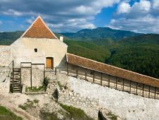 Rasnov Fortress In Transylvania (Romania) Stock Images