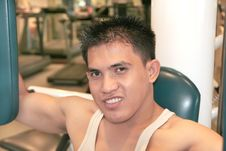Free Man Exercising Smiling Royalty Free Stock Photos - 6549318