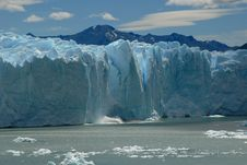 Collapse On The Perito Moreno Glacier, Argentina. Stock Image