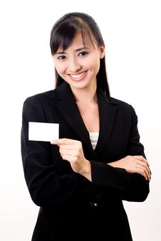 Free Here Is My Card Stock Image - 6549511