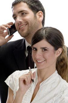 American Business Couple Posing Stock Photos