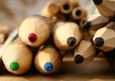 Free Big Colored Wooden Pencils Stock Photography - 6549852