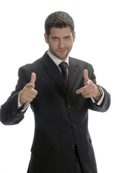 Free Businessman Showing Hand Gesture Stock Photos - 6549963