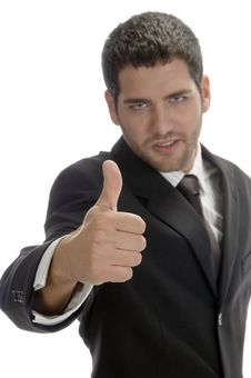 Free Businessman Showing Thumb Royalty Free Stock Images - 6549969
