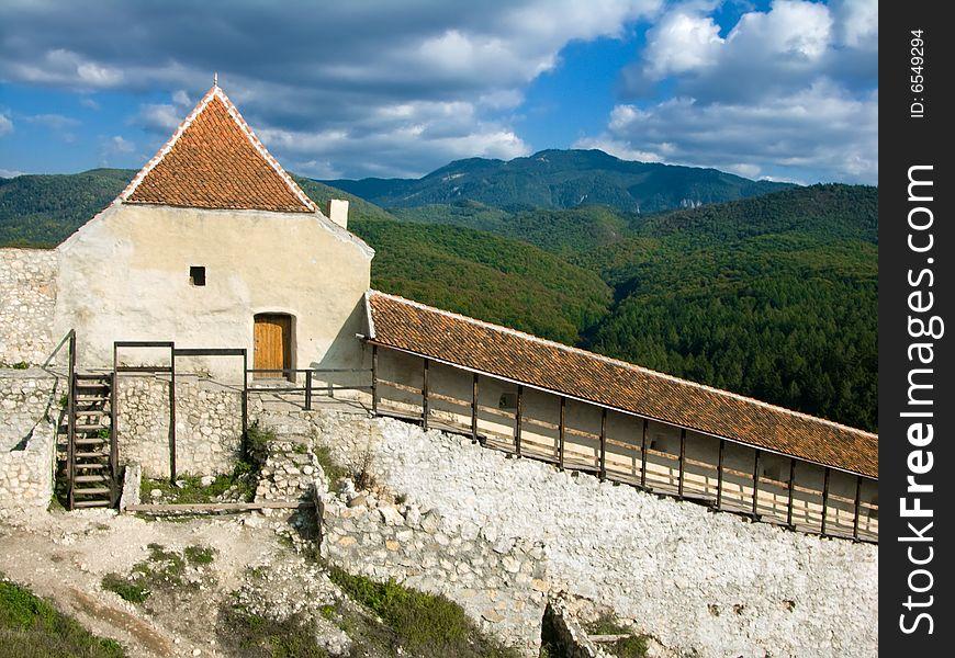 Rasnov fortress in Transylvania (Romania)