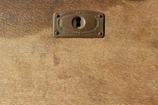 Free Locked Drawer Lock Keyhole Wooden Background Wood Stock Photography - 65433162