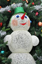 Free Snowman Of Thread Under The Tree Stock Images - 65449574