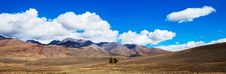 Prairie Landscape With Mountains Panorama Royalty Free Stock Photography