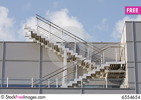 Metal Staircase In An Outdoor Environment