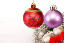 Free Hanging Christmas Decorations Stock Photography - 6550212