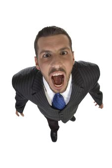 Free Shouting Man Looking Upward Royalty Free Stock Photos - 6550238