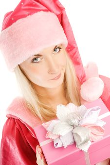 Beautiful Mrs. Santa Stock Images