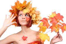 Free Autumn-girl Stock Image - 6551291