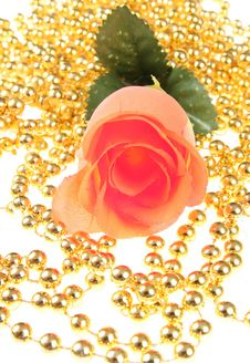 Free Rose With The Golden Ball Royalty Free Stock Image - 6551366