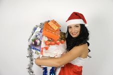 Free Santa Woman With Presents Stock Photos - 6551783