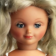Free Portrait Of A Plastic Doll  Isolated On White Stock Image - 6552131