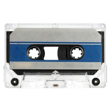 Old Cassette Isolated On White Royalty Free Stock Photo